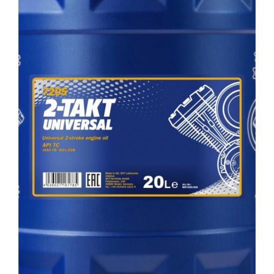 Mannol 7205-20 2-Takt Universal API TC univerzális motorolaj, 20 liter
