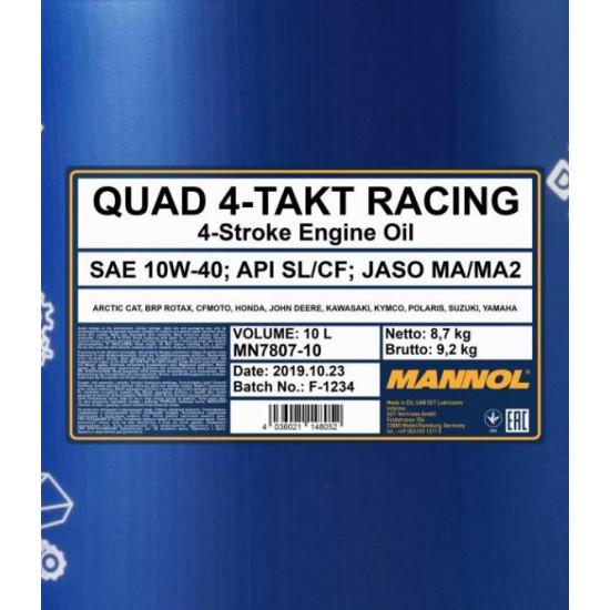 7807  Quad 4-Takt Racing 10W-40 10l