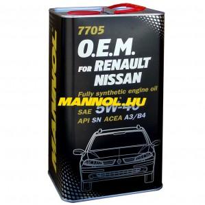 MANNOL OEM for RENAULT NISSAN 5W-40 FÉM DOBOZOS 4 liter