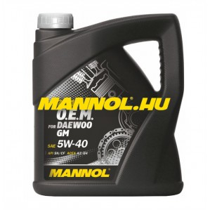 MANNOL OEM for DAEWOO GM 5W-40 4 liter